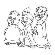 alvin chipmunks coloring picture coloring pages