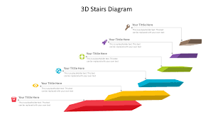 easy to edit 3d stairs diagram for powerpoint related powerpoint