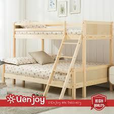 Wooden Triple Bunk Beds Frame WhiteNaturecm EBay - Triple bunk bed wooden