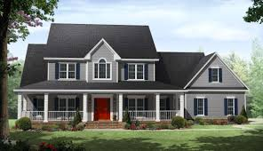 country two story home with wrap around porches maverick homes 4