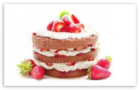 strawberry cake 4k hd desktop wallpaper for 4k ultra hd tv