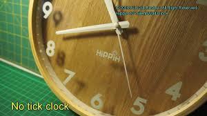 Silent Wall Clock Hippih 12 U0027 Silent Wall Clock Wood Non Ticking Digital Quiet Sweep