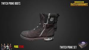 pubg twitch twitch prime boots pubg item showcase youtube