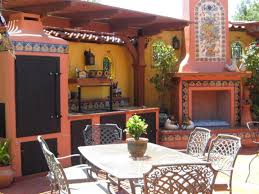 mission style kitchens mexican tile patio table outdoor kitchen