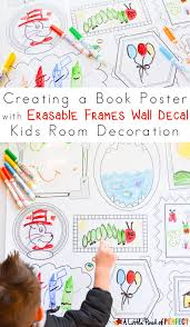 book poster wall decal kids room decoration