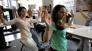 Chicago Tribune News Desk Unfold U0027s Desk Chair Yoga Class During Focal Upright U0027s Pop Up