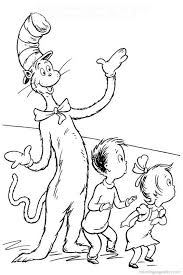 dr seuss coloring pages cat in the hat cecilymae