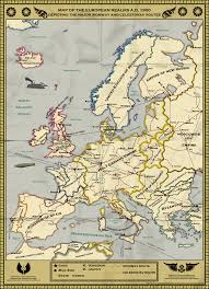 Germany Map Europe by Alternate Europe Png 1000 1380 Alternate History Pinterest