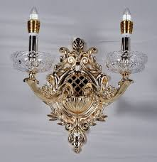 Chandelier Sconce 1 Light Gold Finish Wall Sconce Light Chandelier Wall
