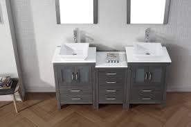 Bathroom Vanity 900mm by Virtu Usa Dior 66 Double Bathroom Vanity Set In Zebra Grey