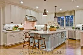 kitchens with different colored islands white kitchen inspiration via ambuehl home stories a to z