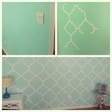 my mint green bedroom accent wall freehand painting diy
