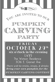 fabulous pumpkin carving invitation wording with pumpkin carving