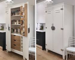 kitchen pantry cabinet freestanding white