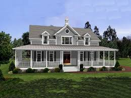 country style house with wrap around porch built in desk and bookcase country style house plans with wrap