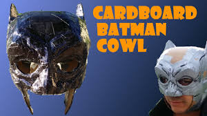 halloween duct tape part 1 cardboard and duct tape batman cowl youtube