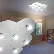 eclairage chambre enfant luminaire de plafond led enfant argent le ciel actoilac nuage
