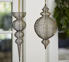 hanging wire outdoor ornaments pottery barn