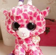 2017 beanie boo ty big eyes plush toys pink deer doll 25cm