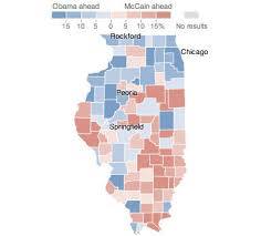 chicago voting map illinois election results 2008 the new york times