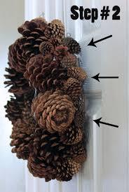 pine cone wreath my as a mrs diy pine cone wreath