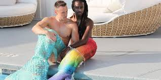 quick mermen guys dress mermaid fashion