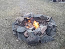 Rocks For Firepit Stunning Rock Pit On The Home Decor And Design Ideas