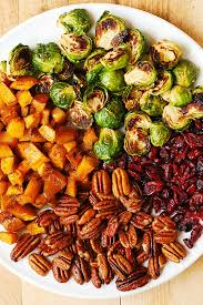 Vegetarian Recipes Thanksgiving Dinner Roasted Brussels Sprouts Cinnamon Butternut Squash Pecans And