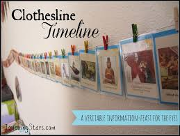 clothesline timeline showcasing the span of history
