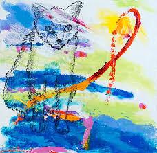 Basement Window Well Art by Linda Rae Jasmine Cat Painting Unified Field One Spirit