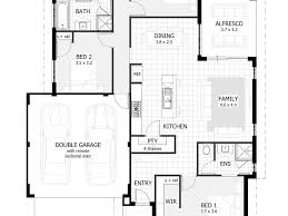 Basic Ranch Floor Plans by Beautiful 3 Bedroom Plans 3 Bedroom House Plan In 1200 Square
