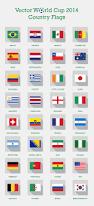 Conutry Flags Free Vector Fifa World Cup 2014 Teams Country Flags Png Icons