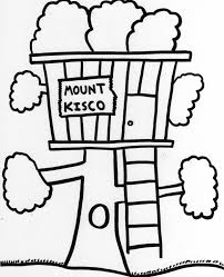 tree house coloring pages funycoloring