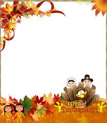 thanksgiving png photo frame happy turkey day digital frames