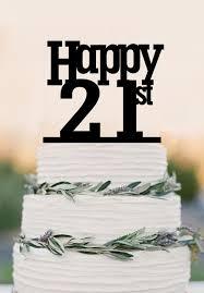 21 cake topper personalized birthday cake topper 21st cake topper custom birthday