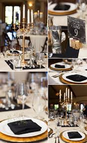 Black Table Centerpieces by Black White Gold Elegant Table Decor For A Wedding Wedding
