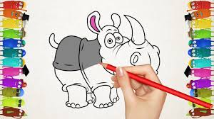 drawing for kids learn to draw jungle animals how to color