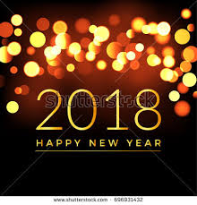 new year card design happy new year 2018 abstract bokeh stock vector 696931432