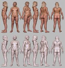 Female Body Reference For 3d Modelling Irena Both Final 02 800 Krakens Can Gaily Dance