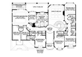 dimensioned floor plan two story luxury mediterranean home plan 32066aa architectural