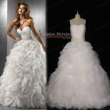 aliexpress com buy real sample strapless puffy organza bridal