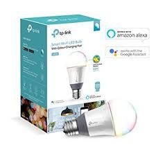 alexa light bulbs no hub tp link lb130 smart led wi fi light bulb e27 11 w works with