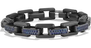 black titanium bracelet images Lyst david yurman royal cord link bracelet with sapphires in jpeg