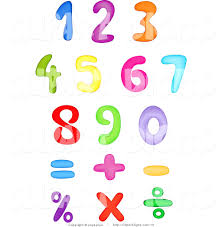 symbols delectable clip art colorful numbers and symbols