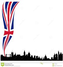 London Flag Photos Detailed London Silhouette Skyline With Flag Stock Vector Image