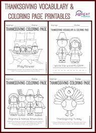thanksgiving thanksgiving coloring page collage2 vocabulary and