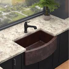 Hammered Copper Farmhouse Sink  Single Bowl Elkay - Hammered kitchen sink
