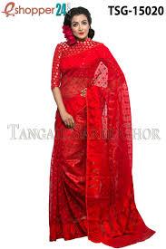 jamdani sharee tangail moslin jamdani saree tsg 15020 online shopping in