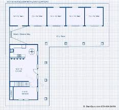 horse barn with apartment floor plans barns with living quarters floor plans