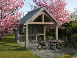 alfresco dining oak frame outdoor eating area in spring jpg